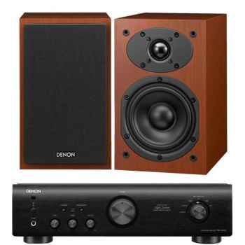 DENON PMA-520 Black+ SCM40 Cherry