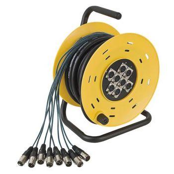 DAP Audio Python 8 Carro de cables con 8 XLR para Escenario. 16 metros