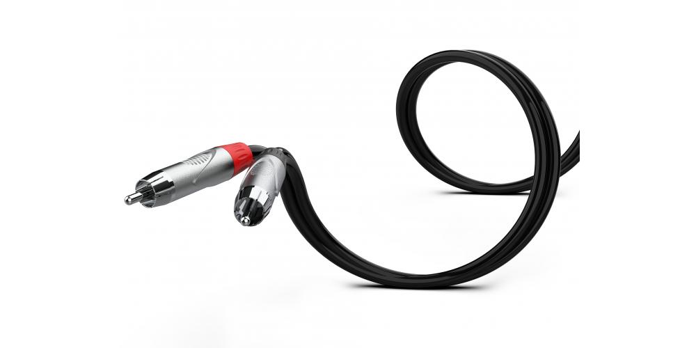 cable pro 2 x jack a 2 x rca 1 metro negro audibax oferta
