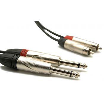Audibax Cable Pro 2 x Jack a 2 x Rca 1 Metro