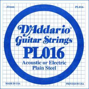 D´addario PL016 Cuerda Suelta para Guitarra Eléctrica y Acústica