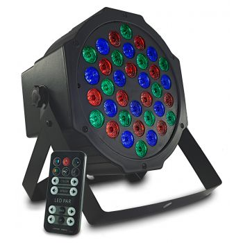 Audibax Montana 36 Foco LED RGB 36 x 1w + Mando