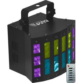 Ibiza Light COMBI STUV Efecto Derby + Estrobo DMX 3 en 1