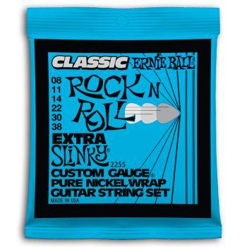 Ernie Ball 2255 Slinky P.Nickel Extra Cuerdas Para Guitarra Eléctrica 8-38
