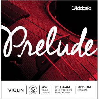 D´addario J814 Cuerda Prelude Sol (G) para Violín 4/4, tensión media