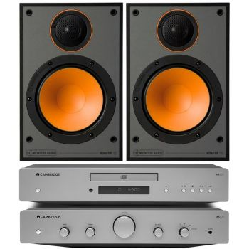 CAMBRIDGE AXA25+AXC25+Monitor Audio 100 Black Conjunto audio