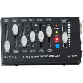 Ibiza Light LC12 DMX Controlador DMX de 12 Canales