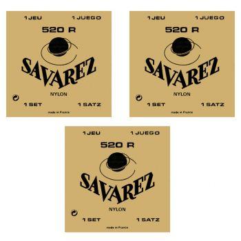 Savarez 520R Cuerdas Guitarra Clásica x 3 Juegos