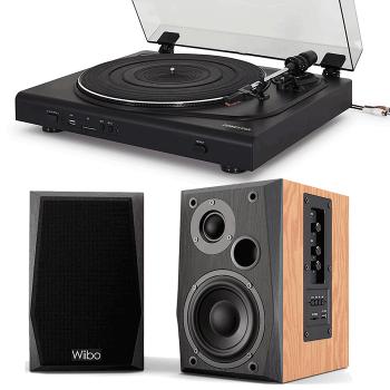 Equipo HiFi Giradiscos Fonestar SF-2200U + Altavoces Activos Wiibo NEO 50