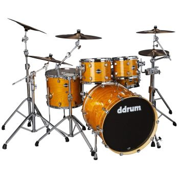 Ddrum DOMINION BIRCH 5P SH PK W/ASH VENEER GN Set de Batería Acústica DM-ASH-522-GN