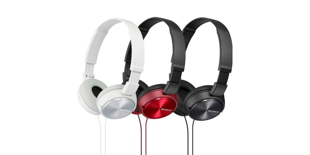 audifonos sony mdr zx 310 auricular sony rojo negro blanco