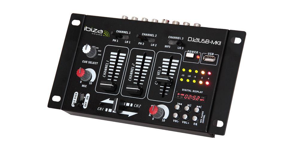 Ibiza Sound Dj 21 Usb MKII Mezclador Dj