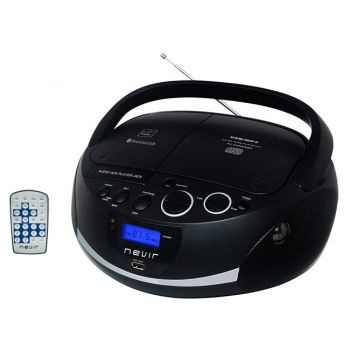 NEVIR NVR-480UB Radio-CD Bluetooth USB Negro