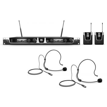 Ld systems U518 BPH 2 Sistema inalámbrico con 2 petacas y 2 micrófonos de diadema