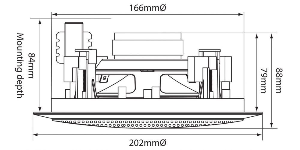 oferta altavoz de techo line100v adastra cc5v