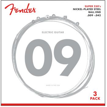 Fender Super 250L NPS (.009-.042 Gauges) pack de 3