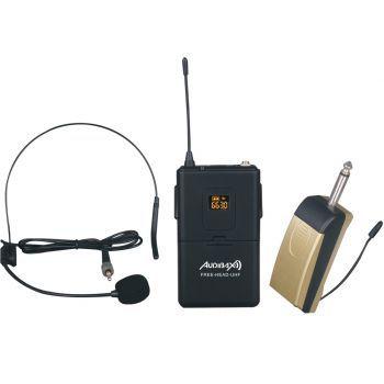 Audibax Missouri Free Head UHF Micrófono de Diadema y Solapa inalámbrico