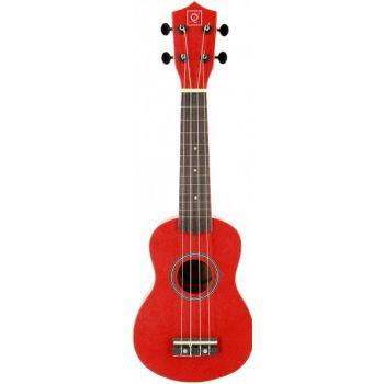 OQAN QUK-1 Red Ukelele Soprano Rojo Con Funda Incluida