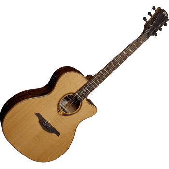 LAG T118ASCE Guitarra Electro Acústica Tipo Auditorium con Cutaway Serie Tramontane