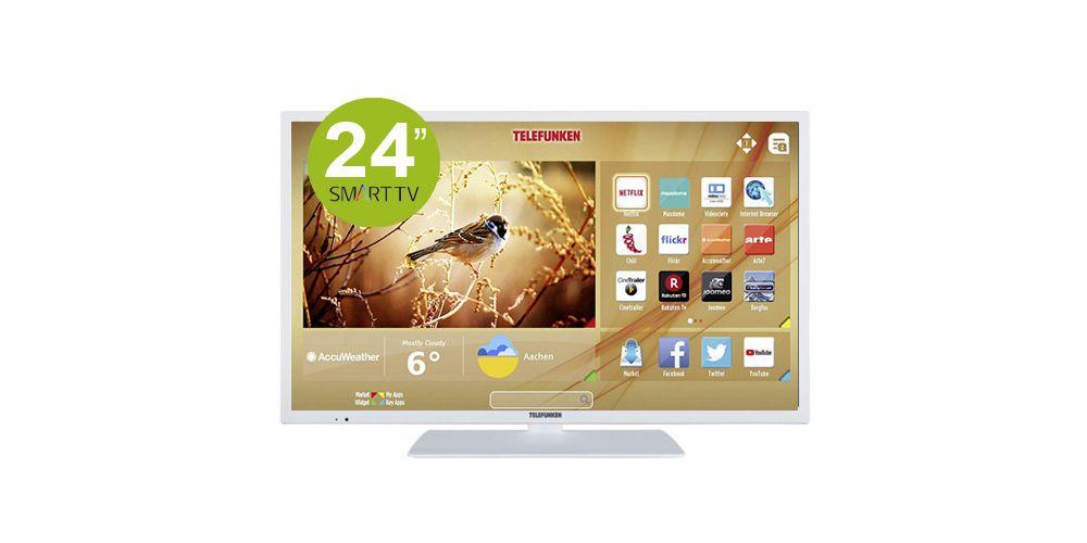 tv 24 blanca con smart tv telefunken