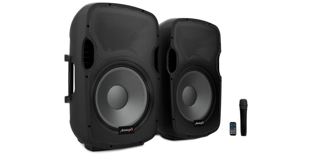 audibax party215 altavoces amplificados