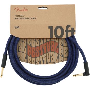 Fender Cable Angled Festival Instrument Pure Hemp 3 metros Blue Dream