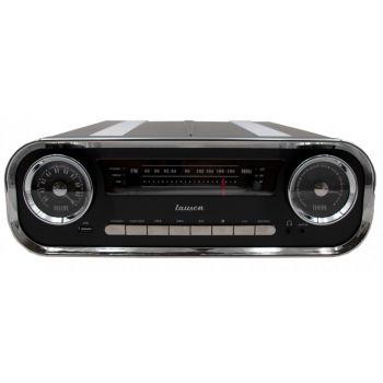 Lauson 01TT16 Tocadiscos Vintage Negro Bluetooth Encoding FM USB