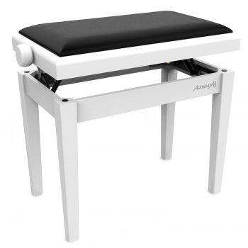 Audibax KB600 White Banco para Piano Teclado Ajustable Regulable. Acolchado