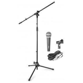 Vonyx 180059 Kit de microfono con Soporte y Bolsa