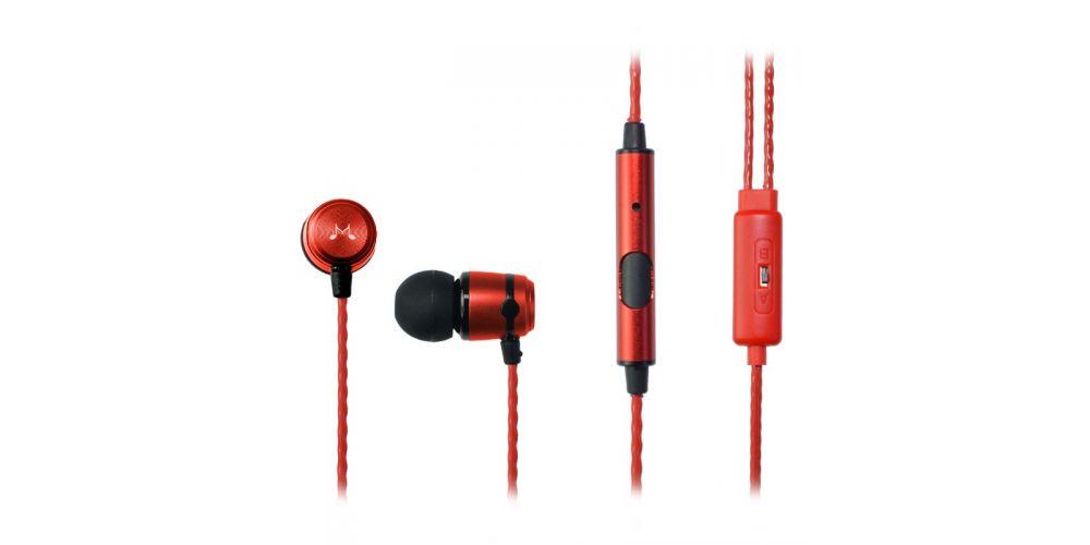 SoundMagic E50S Negro/Rojo Auriculares IN EAR con Micro