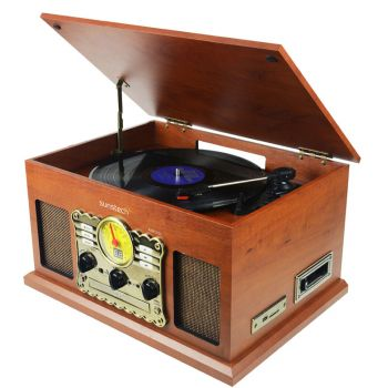 SUNSTECH PXR5 Tocadiscos Retro MP3. Con CD y Cassette ( REACONDICIONADO )