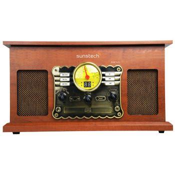 SUNSTECH PXR5 Tocadiscos Retro MP3. Con CD y Cassette
