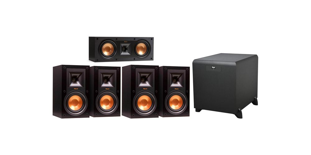 klipsch R 15MII rc25 sw450 conjunto home cinema