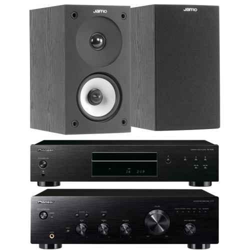 pioneer a10k black amplificador estereo pd10ae bk jamo s622 black
