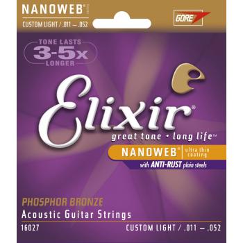 Elixir 16027 PHOSPHOR 11-52 Juego Cuerdas Acustica