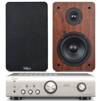 Equipo HiFi Amplificador DENON PMA-520 S + Altavoces estantería Wiibo Karino 200