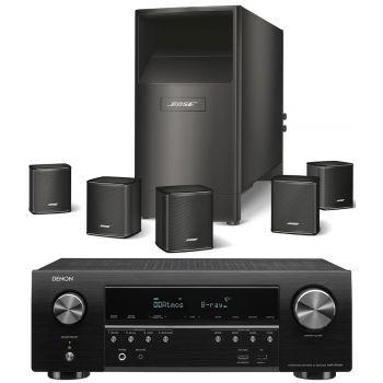 DENON Equipo AV AVR-S750+Bose AM-6V Negros Altavoces Home Cinema