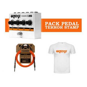 Orange Pack Terror Stamp Amplificador 20W Pedal + Cable 3m + Camiseta