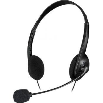 SpeedLink Accordo Auriculares PC con Micrófono para Teletrabajar. SL870003BK