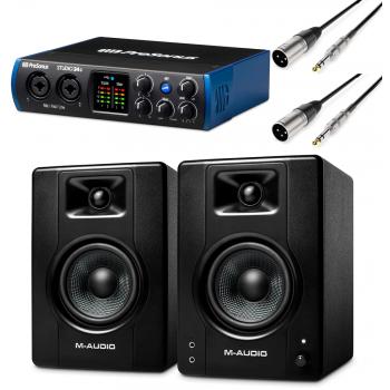Presonus STUDIO 24C Interfaz audio USB-C + Monitores Activos M Audio BX4