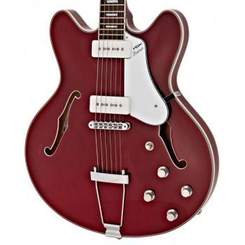 Vox BOBCAT V90 CHERRY RED Guitarra Eléctrica Semi-Hollow Roja