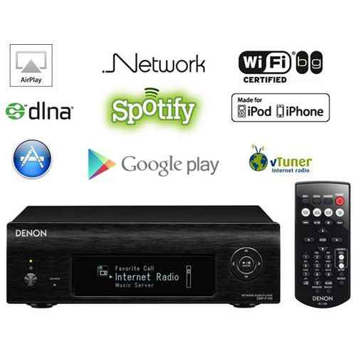DENON DNP-F109-K Negro Reproductor Mini Audio Red con Radio