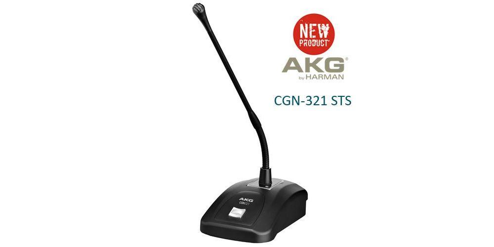 AKG CGN-321 STS Microfono Conferencias, Flexo 30 Cm., CGN321 STS