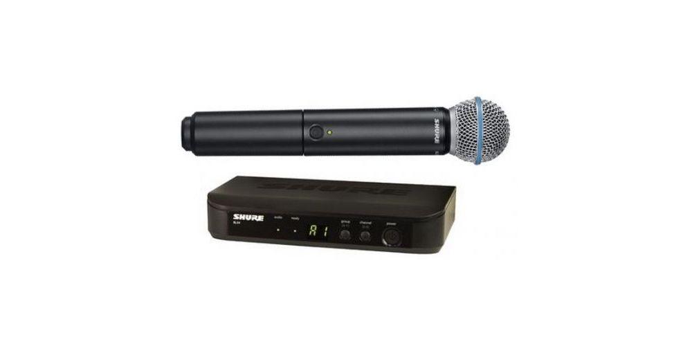 SHURE BLX24E B58 Microfono inalambrico de Mano Beta 58