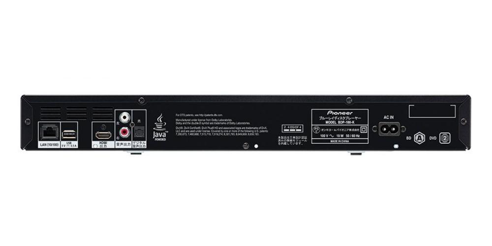 pioneer bdp180k conexiones panel trasero negro