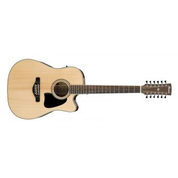 Ibanez AW7012CE-NT, Guitarra acustica 12 cuerdas, Natural