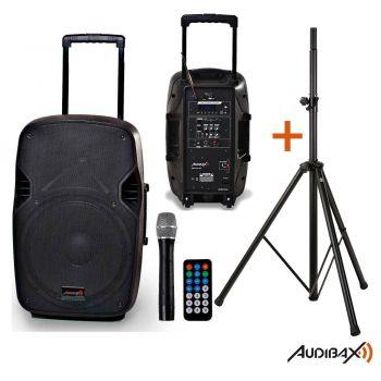 Audibax DENVER 10 Altavoz Portátil Bluetooth con Batería + Soporte Tripode