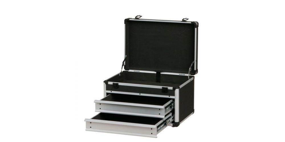 dap audio d7041 caja de herramientas cajones abiertos