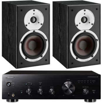 Pioneer A-30K+Dali Spektor 2 Black Conjunto Audio
