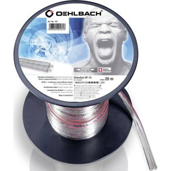 Oehlbach Silver Speaker Cable 2x1,50mm 20 metros Clear